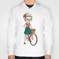 hipster Hoodies featuring Hipster by Maripili