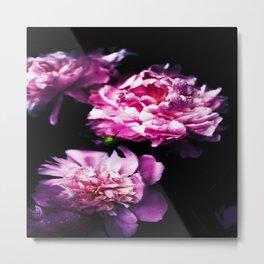 Flower Florals In Pink Metal Print