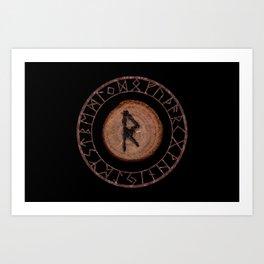 Raidho Elder Futhark Rune Travel, journey, vacation, relocation, evolution, change of place Art Print