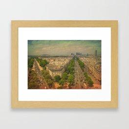 Avenue De Champs Elysees in Paris Framed Art Print