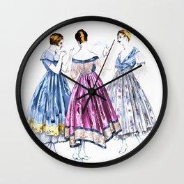 Vintage Dresses Wall Clock