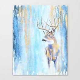 Winter Buck Canvas Print
