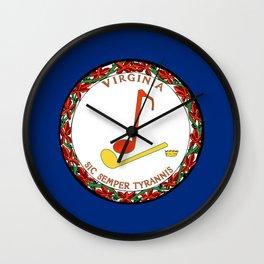 Musical Flag of Virginia Wall Clock