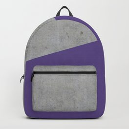 Concrete with Ultra Violet Color Backpack