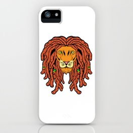 Unique Ganja Animal Design With A Cool Illustration Of A Lion King T-shirt Design Jungle Wild Animal iPhone Case