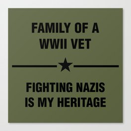 WWII Family Heritage Canvas Print