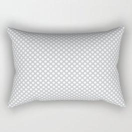 Glacier Gray and White Polka Dots Rectangular Pillow