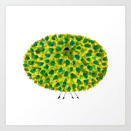 Poofy Pineapple Art Print