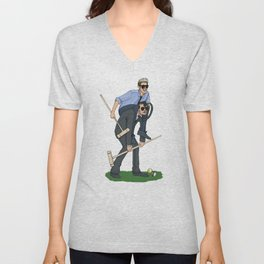 Liam and Niall Play Croquet Unisex V-Neck