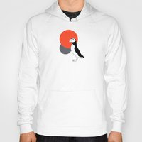 puffin Hoodies featuring Puffin by Rebekhaart