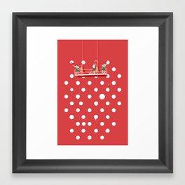 Polka Paint Framed Art Print