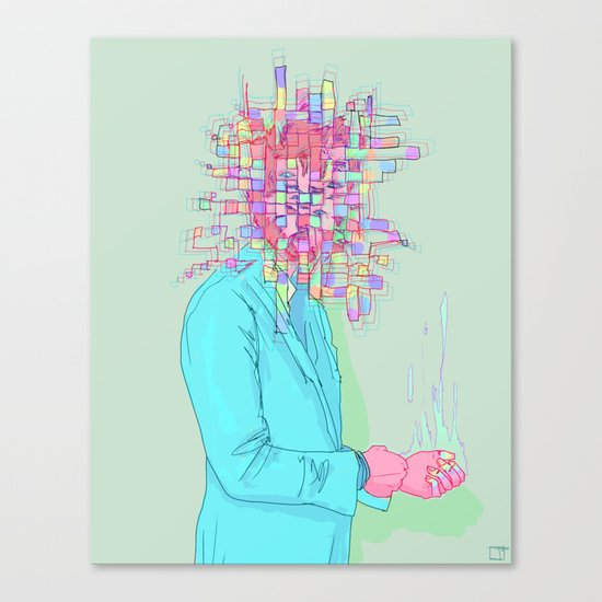 Psychedelic face Canvas Print