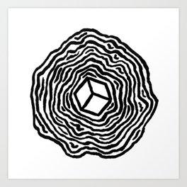 The d6 Art Print