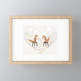 fox philosophers Framed Mini Art Print