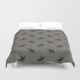 Moose Silhouette Duvet Cover