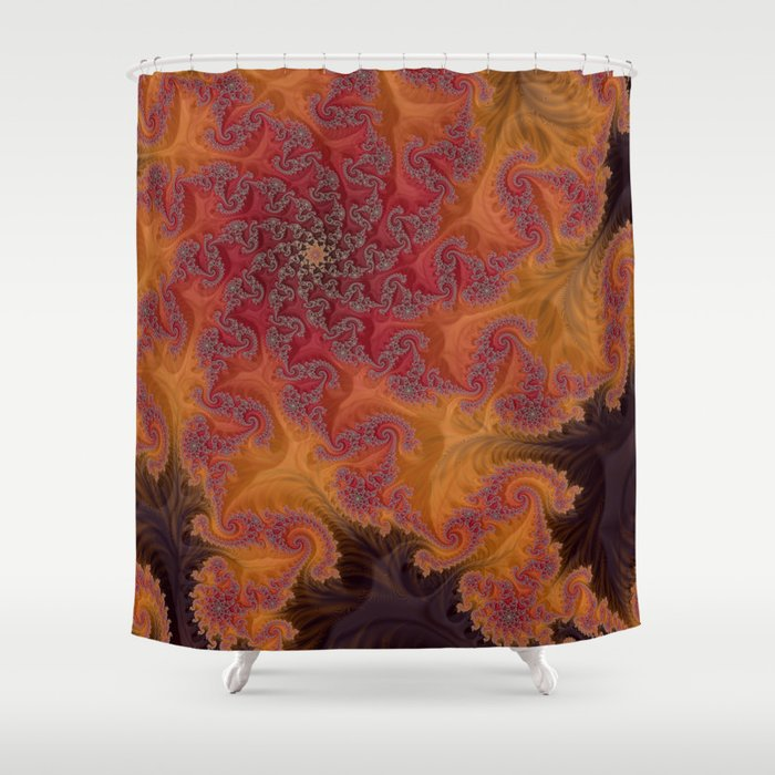 Heart of the Flame - Fractal Art Shower Curtain