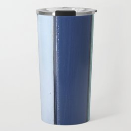 Cape Cod Shutters: Vintage Blue Wooden Boards Travel Mug