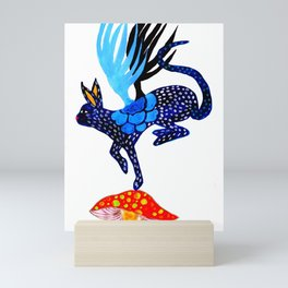 Blue Lucky Mini Art Print