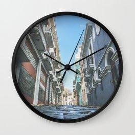 Puerto Rico Streets Wall Clock
