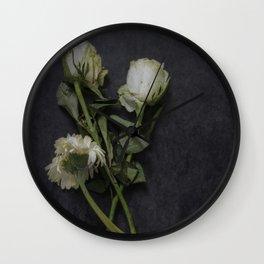 Wilting Flowers Wall Clock