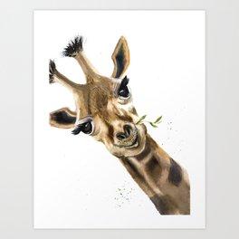 Gitaffe Art Print