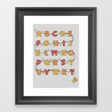 From A to Zzz Framed Art Print