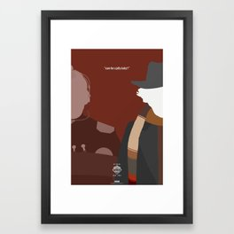 """Doctor Who 50th Anniversary Posters - """"The 4th Doctor"""" Framed Art Print"""