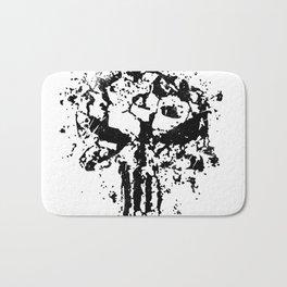Concrete Punish Skull Bath Mat