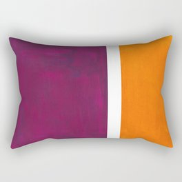 Purple Wine Yellow OchreMid Century Modern Abstract Minimalist Rothko Color Field Squares Rectangular Pillow