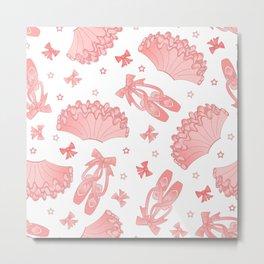 Pink Ballet Pattern Metal Print