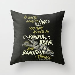 If You're Going To Live - The Serpent King Throw Pillow