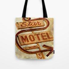 Vintage Grunge Motel Sign Tote Bag