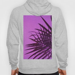 Pink Palm Tree Leaves Hoody