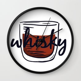 Simple Whisky Wall Clock