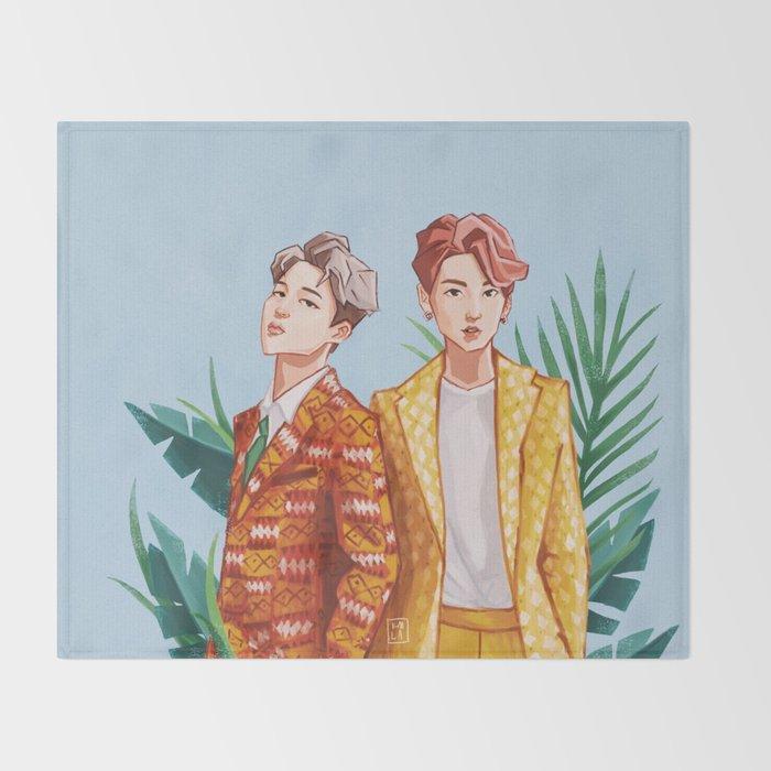 Bts Jungkook And Jimin Throw Blanket By Ohdeerkamilla Society6