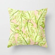 Pastel Jungle Throw Pillow