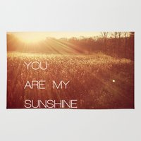 you are my sunshine Area & Throw Rugs featuring You Are my Sunshine by Olivia Joy StClaire