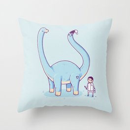 A new friend Throw Pillow