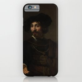 Style of Rembrandt - Man with a Steel Gorget iPhone Case