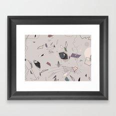 serious cat Framed Art Print