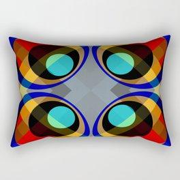 Retro Rocket 31 Rectangular Pillow