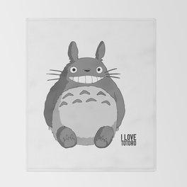 I Love Totoro Throw Blanket