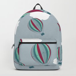 Hot air balloons and clouds - grayish purple Backpack