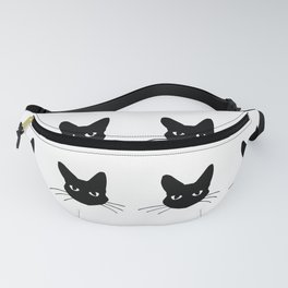Black and white cute cats pattern Fanny Pack
