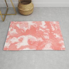 Living Coral Abstract Painting #1 #ink #decor #art #society6 Rug