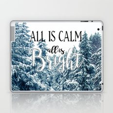 All is Calm - All is Bright - Winter Landscape Laptop & iPad Skin