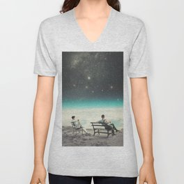 You Were There, in my Deepest Silence Unisex V-Neck