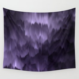 Purple and black. Abstract. Wall Tapestry