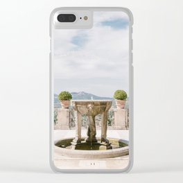 Italian Garden with Fountain Clear iPhone Case