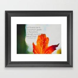 Thanks Be to God Framed Art Print